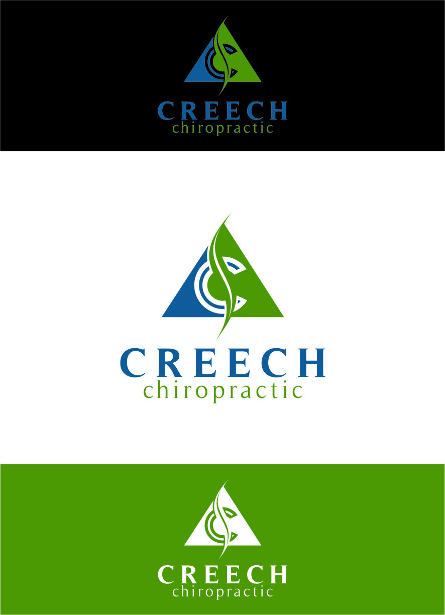 Logo Design by Ngepet_art - Entry No. 102 in the Logo Design Contest Imaginative Logo Design for Creech Chiropractic.