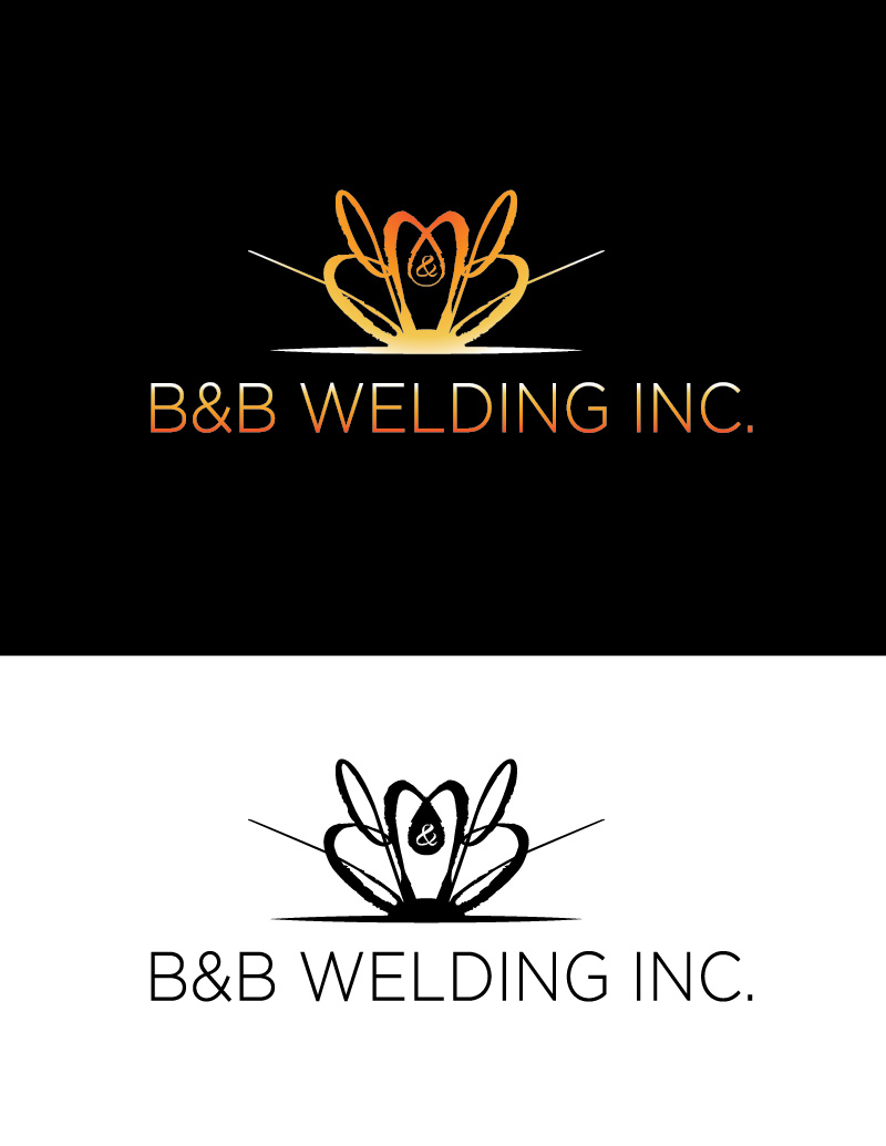 Logo Design by Christina Evans - Entry No. 39 in the Logo Design Contest Fun Logo Design for B&B Welding Inc..