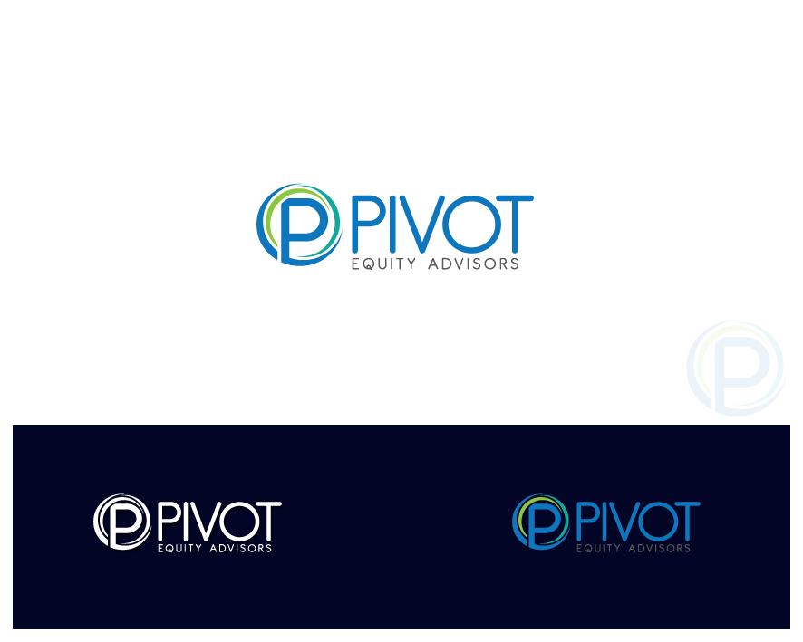 Logo Design by Private User - Entry No. 50 in the Logo Design Contest Unique Logo Design Wanted for Pivot Equity Advisors.