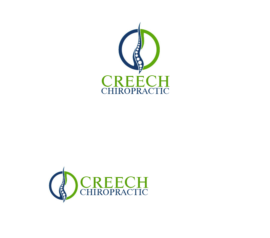 Logo Design by Private User - Entry No. 117 in the Logo Design Contest Imaginative Logo Design for Creech Chiropractic.
