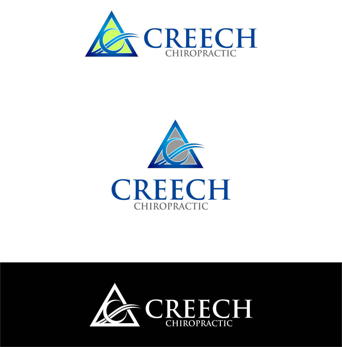 Logo Design by Agus Martoyo - Entry No. 123 in the Logo Design Contest Imaginative Logo Design for Creech Chiropractic.