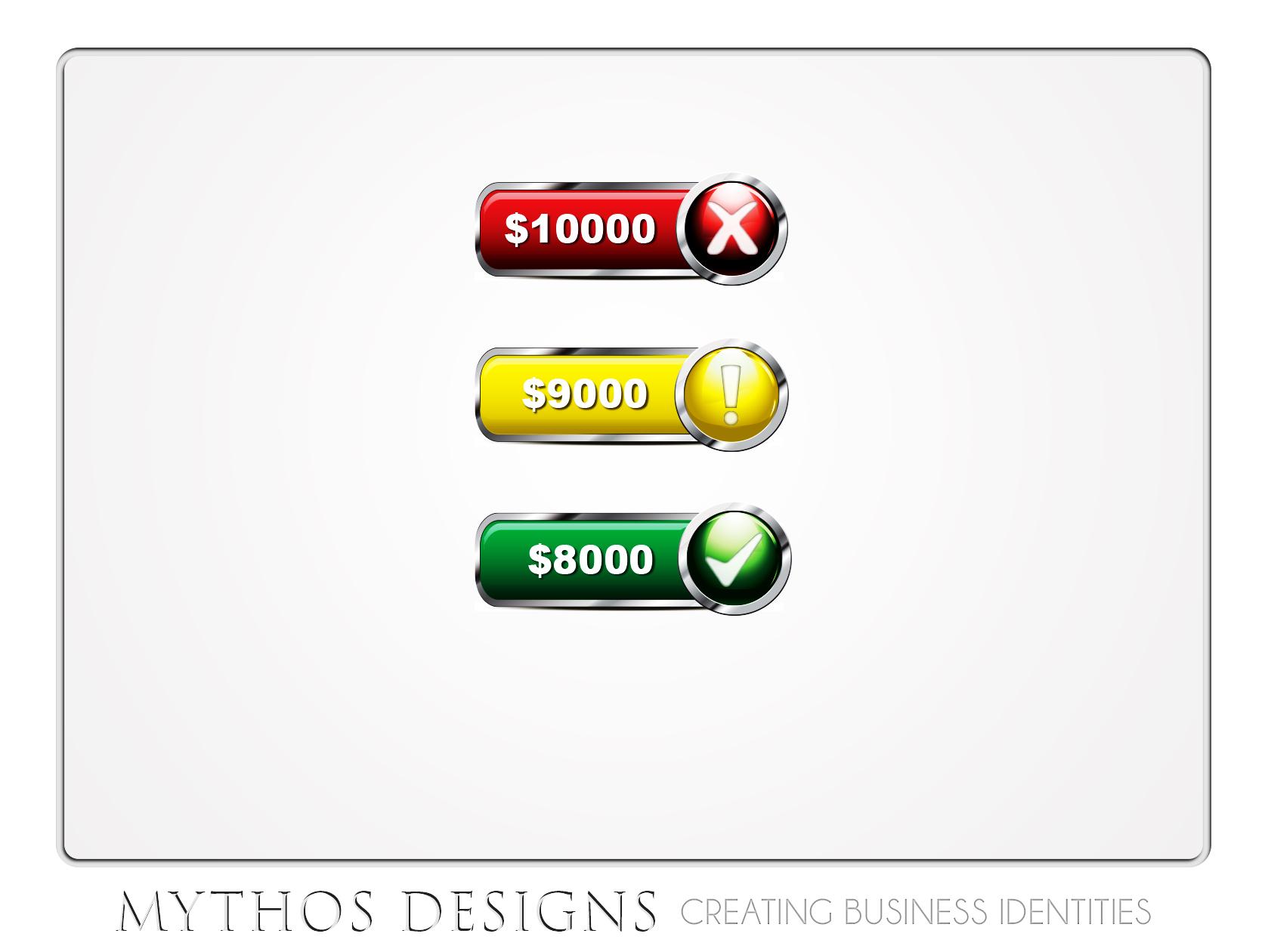 Button & Icon Design by Mythos Designs - Entry No. 20 in the Button & Icon Design Contest Fun Button & Icon Design for Vinny App.