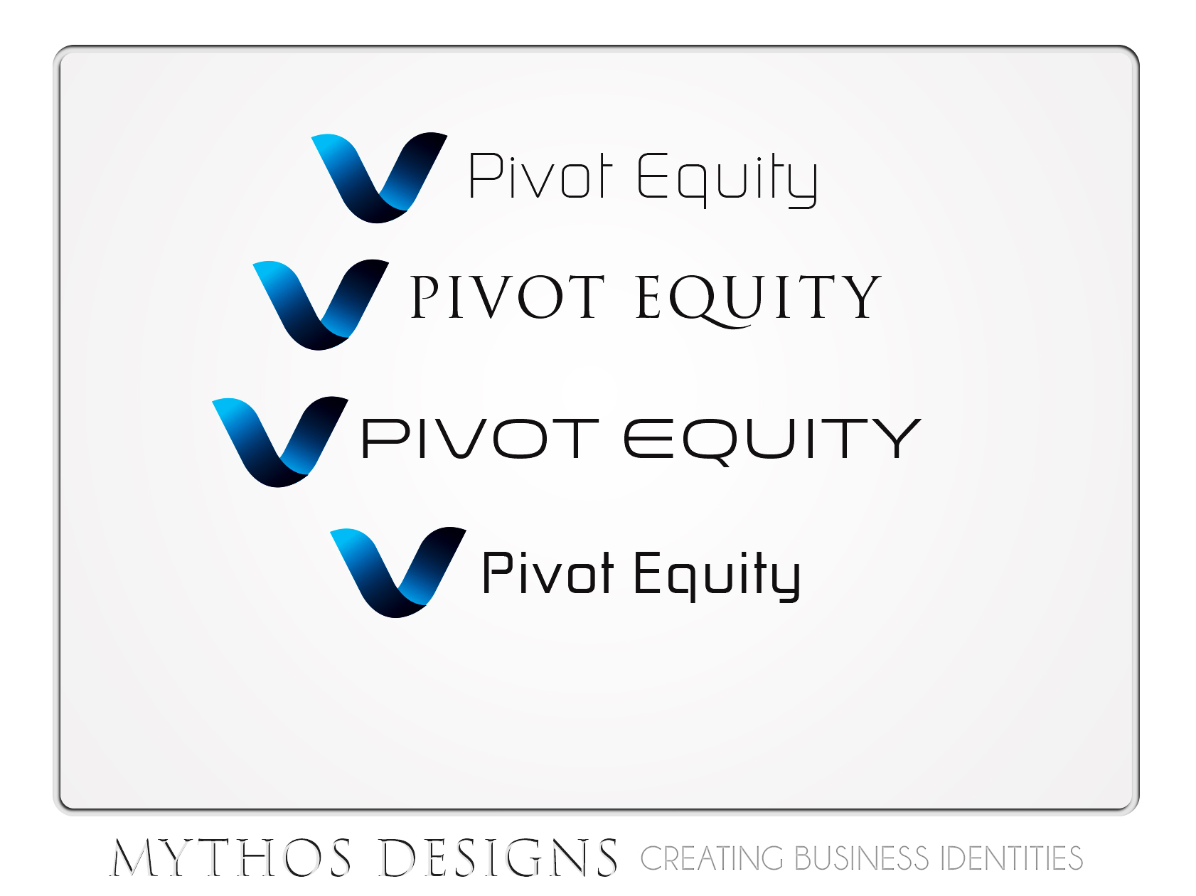Logo Design by Mythos Designs - Entry No. 54 in the Logo Design Contest Unique Logo Design Wanted for Pivot Equity Advisors.
