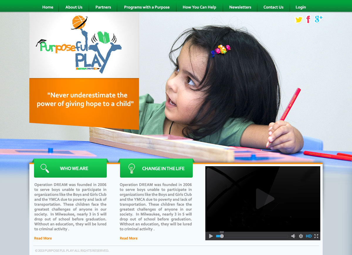 Web Page Design by webexprtz - Entry No. 3 in the Web Page Design Contest Unique Web Page Design Wanted for Purposeful PLAY.