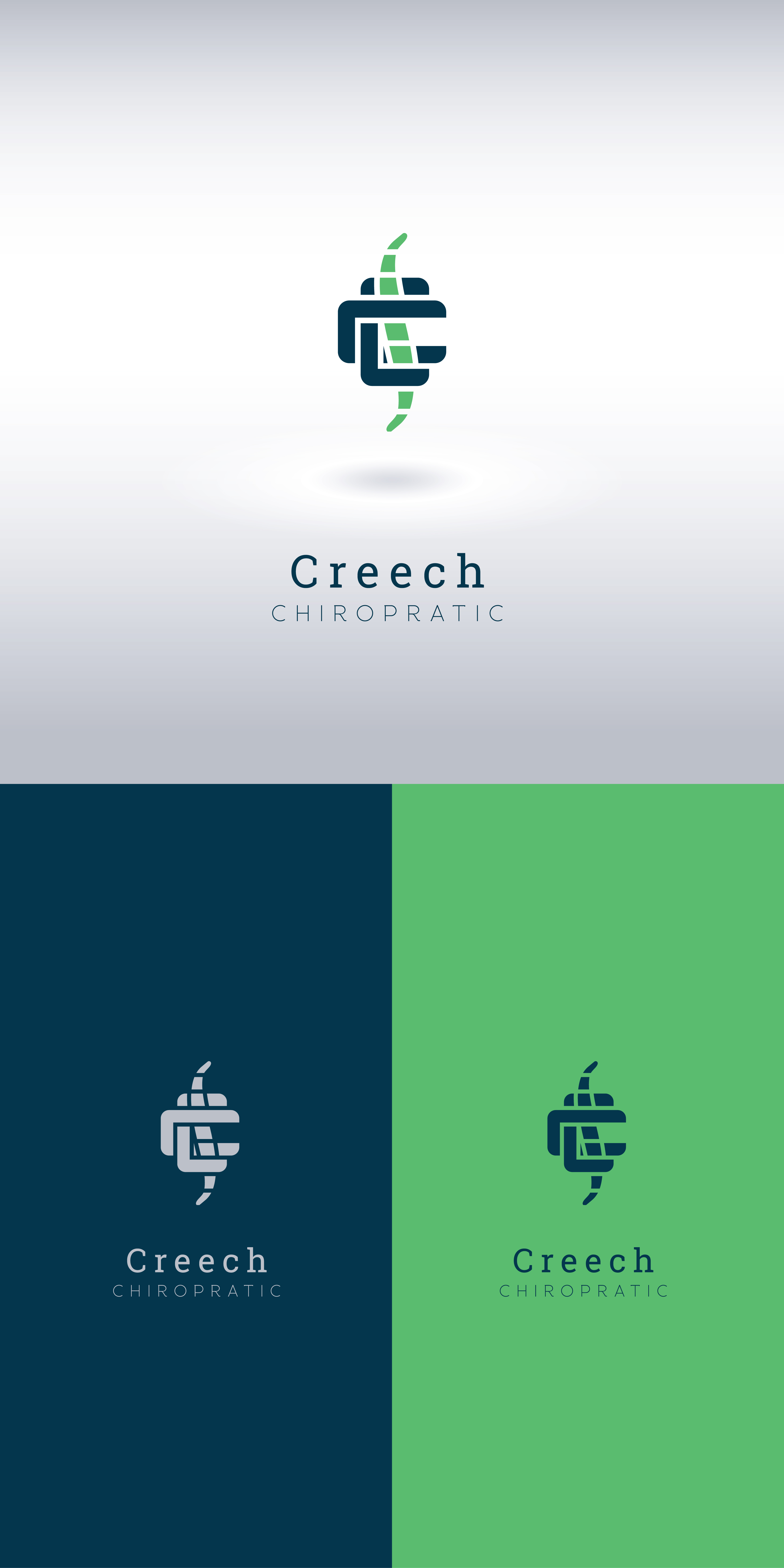 Logo Design by Private User - Entry No. 148 in the Logo Design Contest Imaginative Logo Design for Creech Chiropractic.