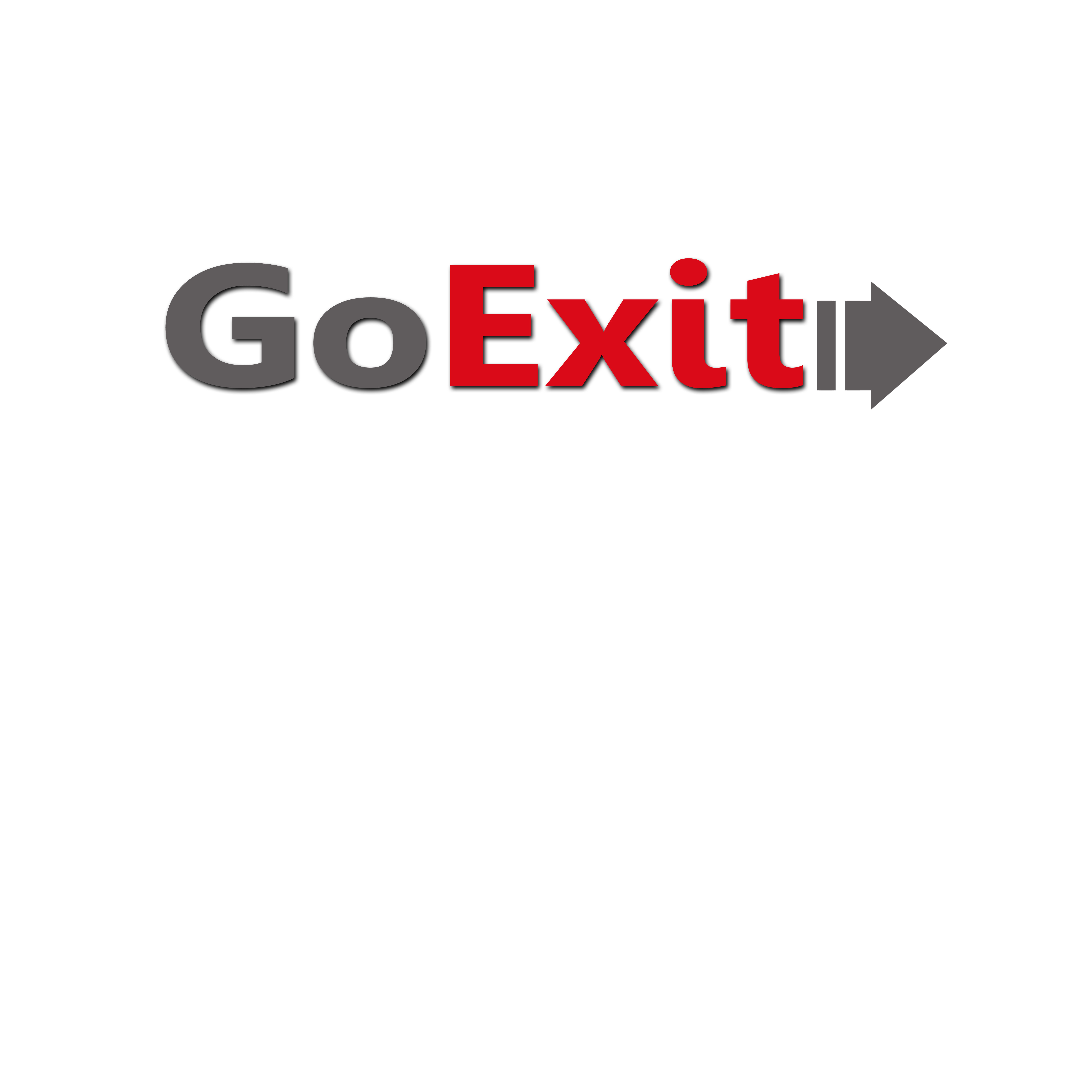 Logo Design by Allan Esclamado - Entry No. 152 in the Logo Design Contest GoExit Logo Design.