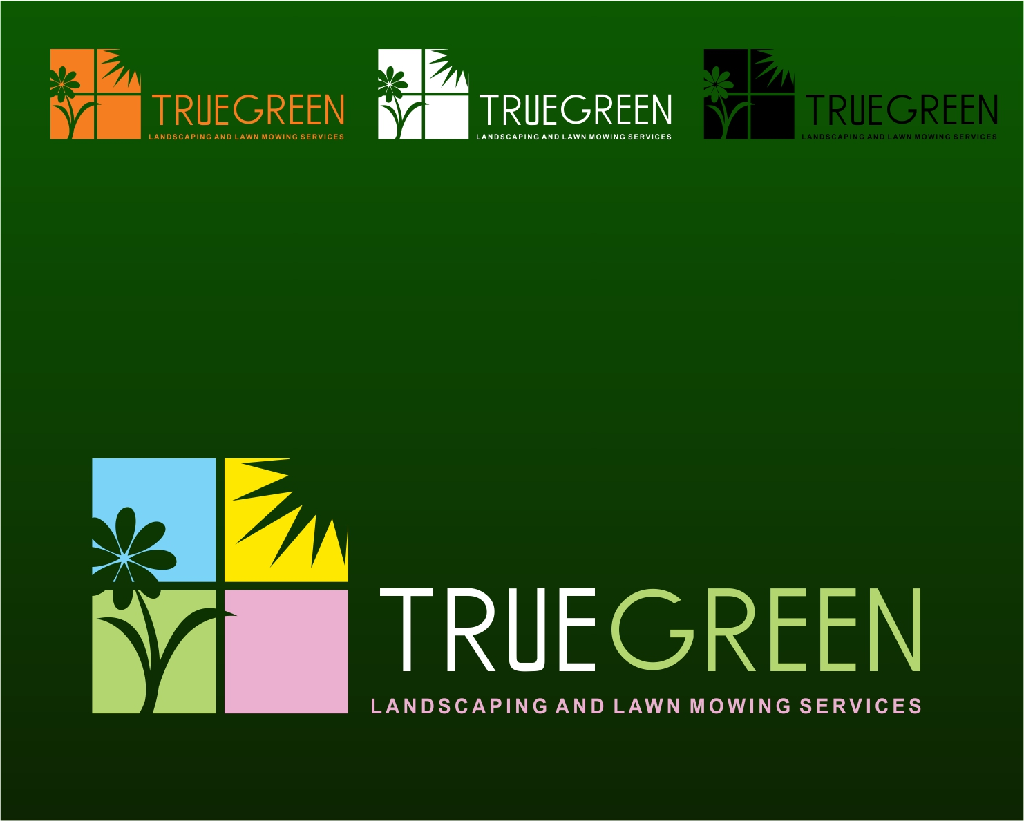 Logo Design by Private User - Entry No. 88 in the Logo Design Contest Fun Logo Design for TRUE GREEN.