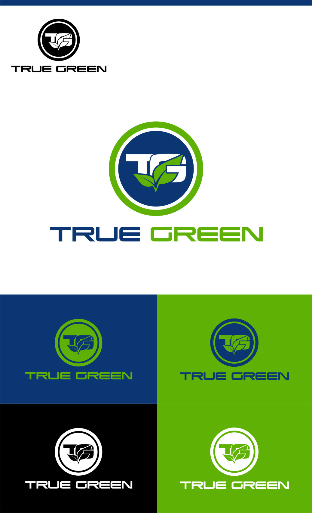 Logo Design by RasYa Muhammad Athaya - Entry No. 93 in the Logo Design Contest Fun Logo Design for TRUE GREEN.