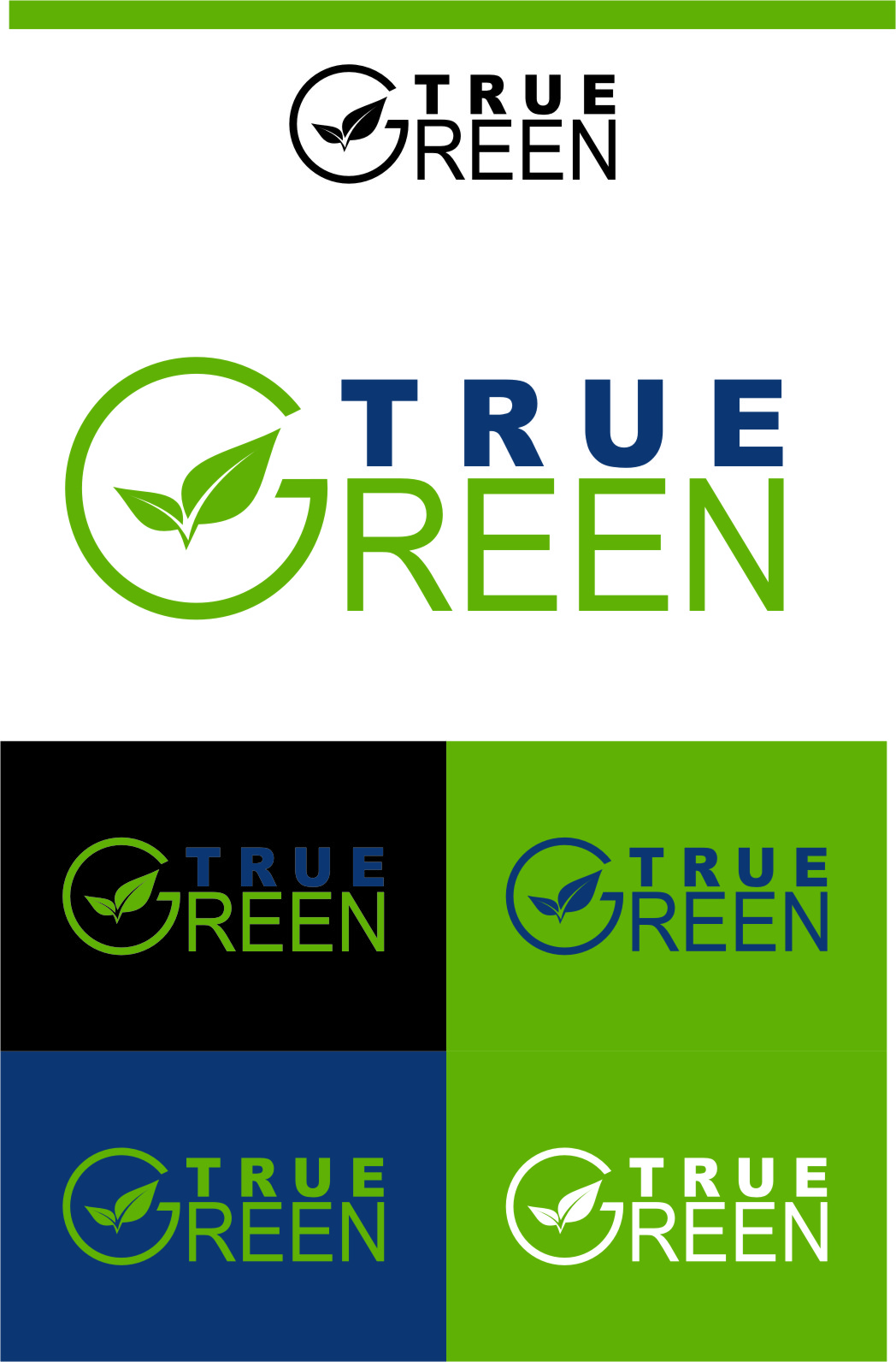 Logo Design by RasYa Muhammad Athaya - Entry No. 99 in the Logo Design Contest Fun Logo Design for TRUE GREEN.