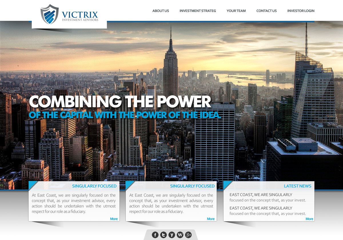 Web Page Design by webexprtz - Entry No. 4 in the Web Page Design Contest Captivating Web Page Design for Victrix Investment Advisors.