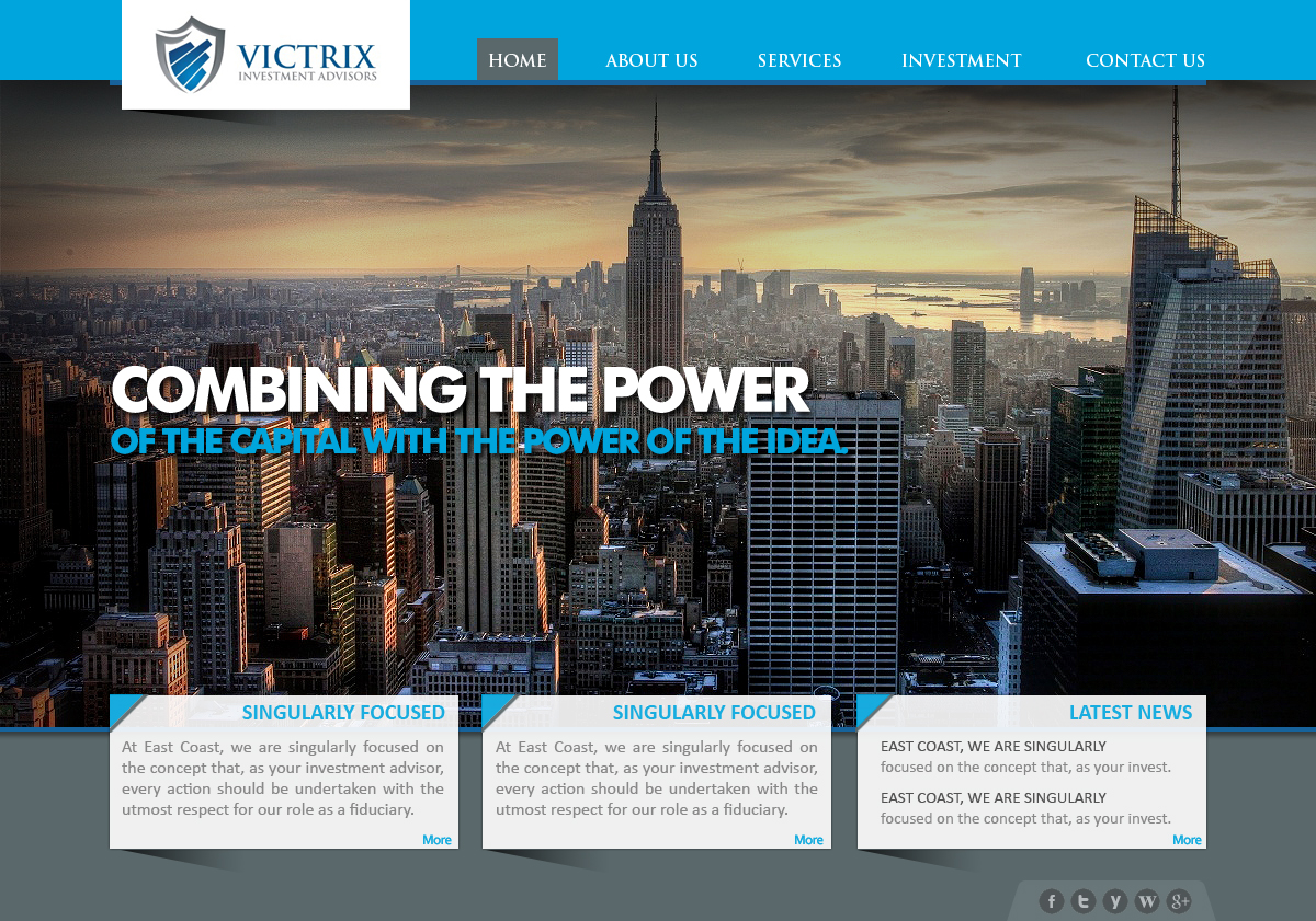 Web Page Design by webexprtz - Entry No. 5 in the Web Page Design Contest Captivating Web Page Design for Victrix Investment Advisors.