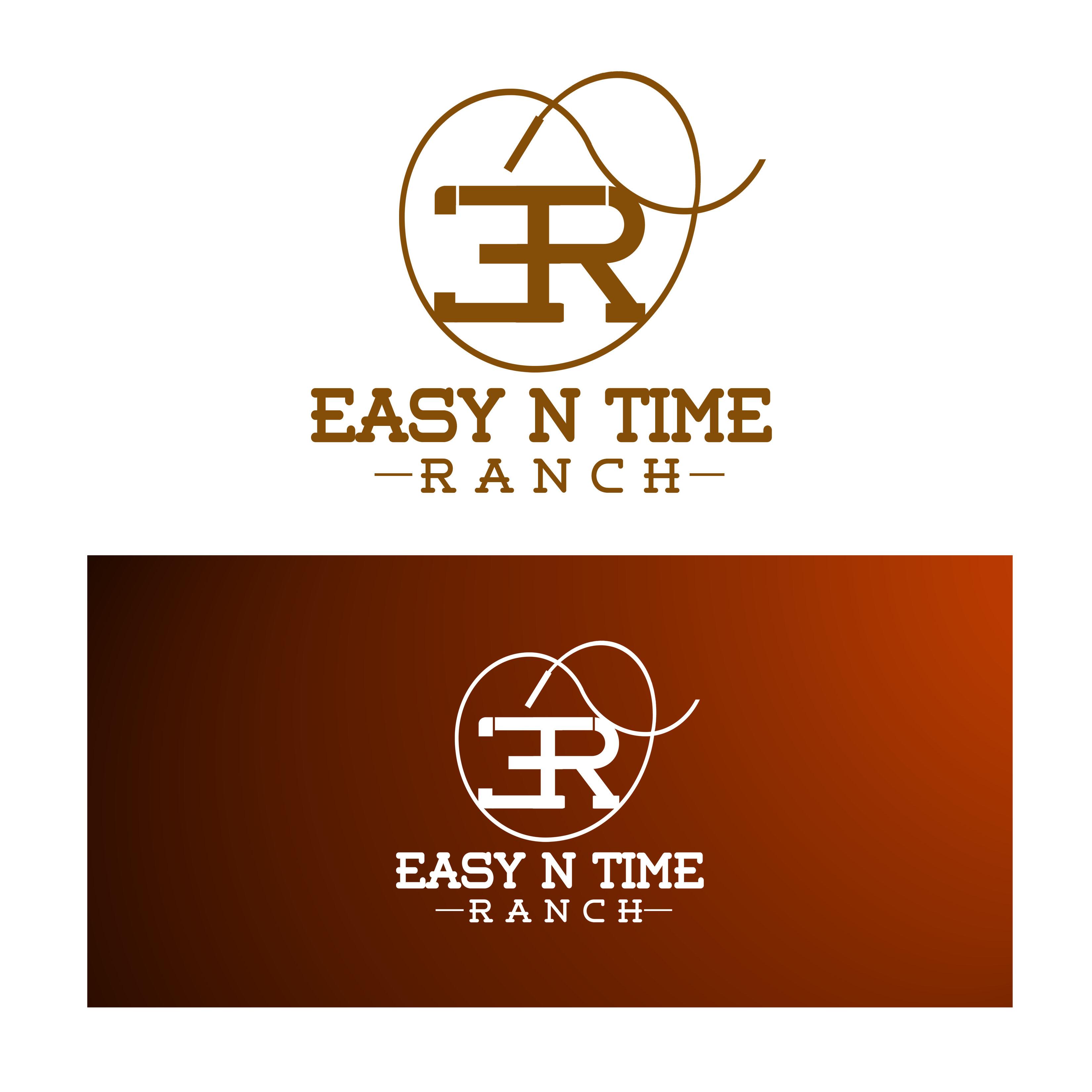 Logo Design by Allan Esclamado - Entry No. 8 in the Logo Design Contest Artistic Logo Design for Easy N Time Ranch.
