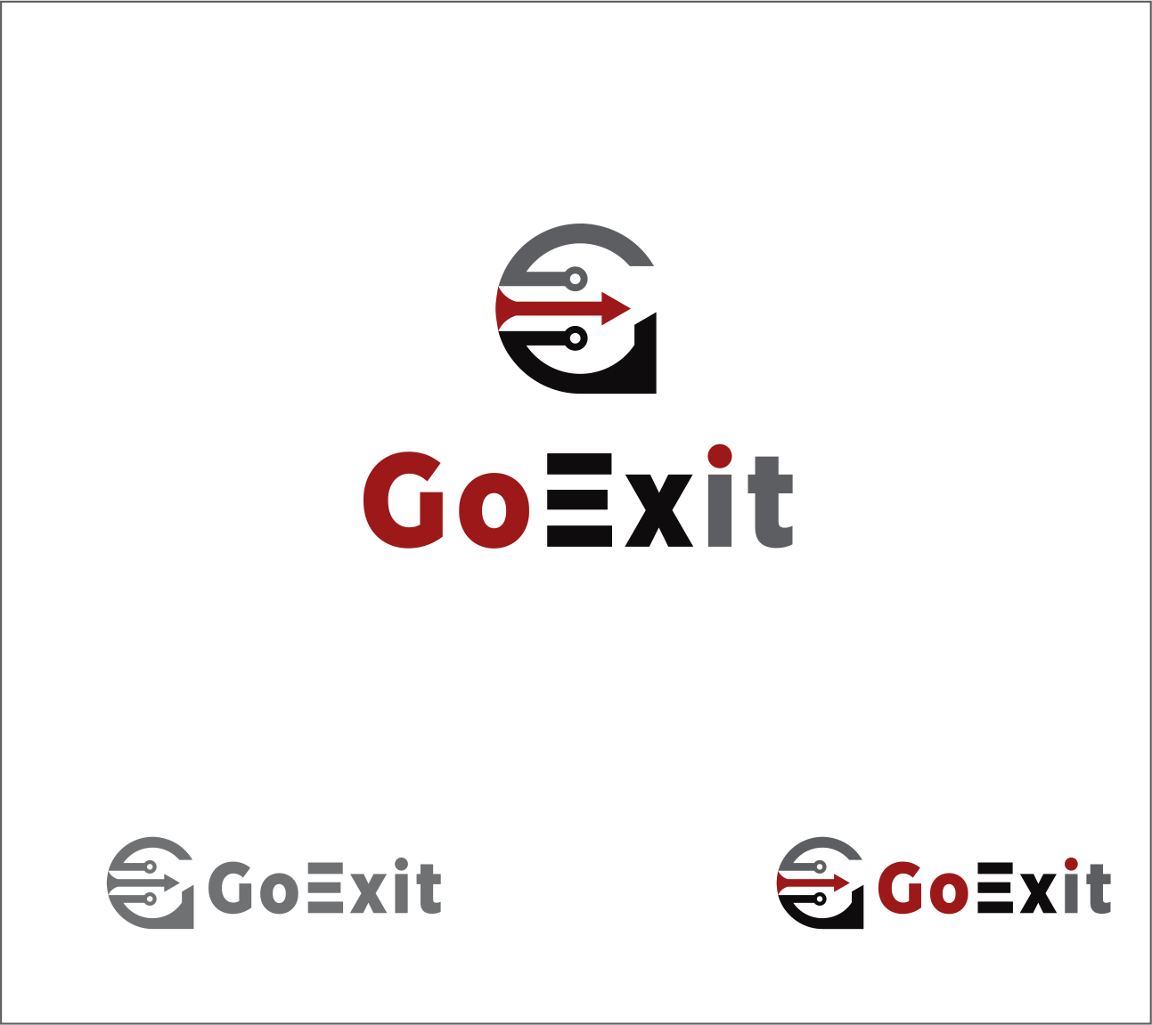 Logo Design by Armada Jamaluddin - Entry No. 173 in the Logo Design Contest GoExit Logo Design.
