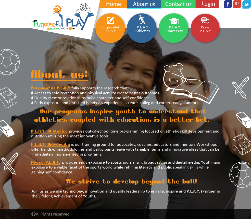 Web Page Design by Ashesh Gaurav - Entry No. 16 in the Web Page Design Contest Unique Web Page Design Wanted for Purposeful PLAY.