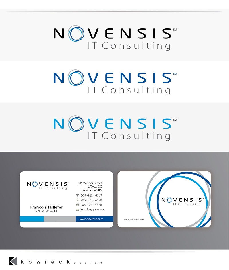 Logo Design by kowreck - Entry No. 147 in the Logo Design Contest Novensis Logo Design.