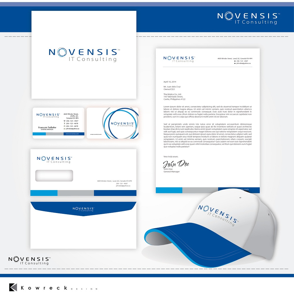 Logo Design by kowreck - Entry No. 148 in the Logo Design Contest Novensis Logo Design.
