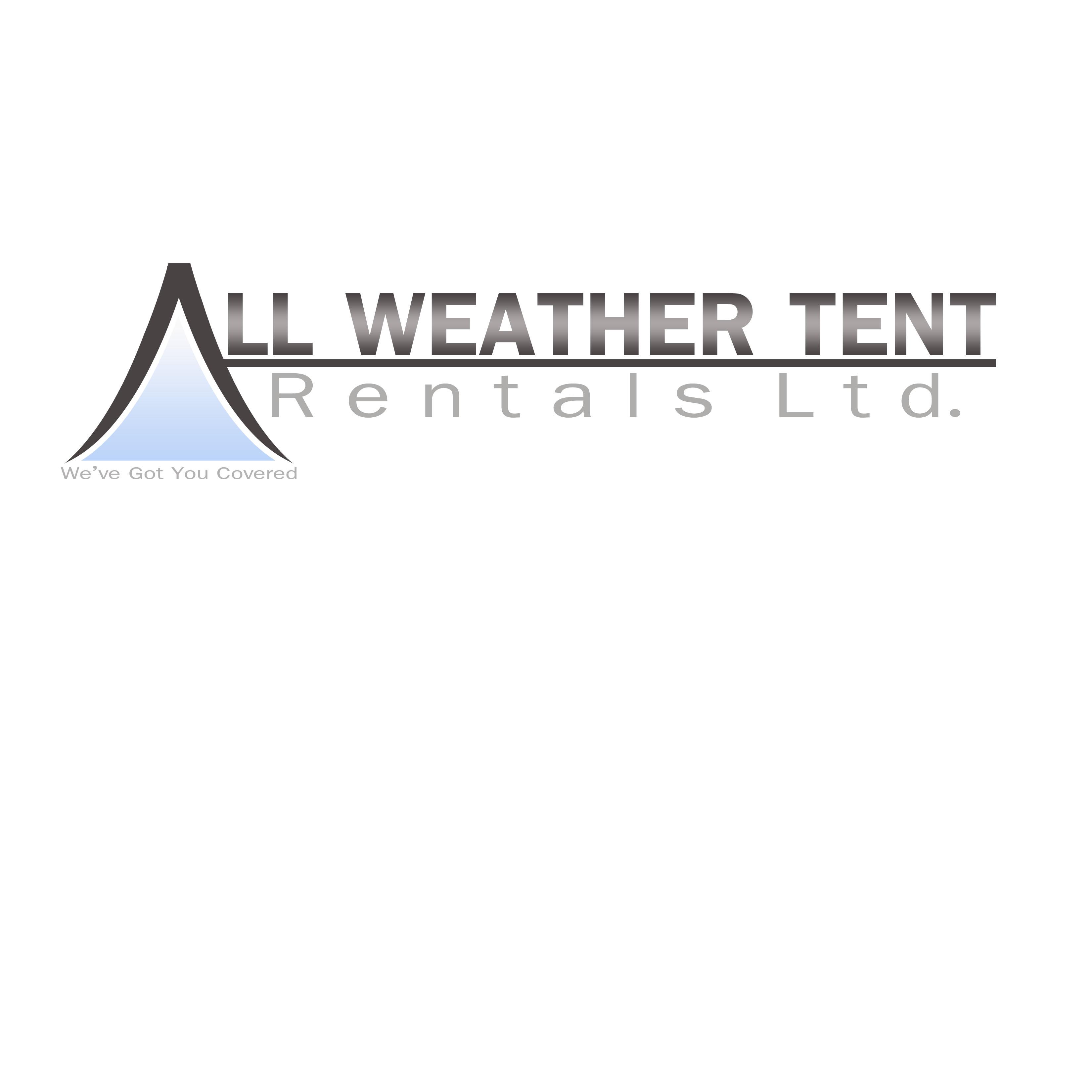 Logo Design by Allan Esclamado - Entry No. 1 in the Logo Design Contest Captivating Logo Design for All Weather Tent Rentals Ltd..