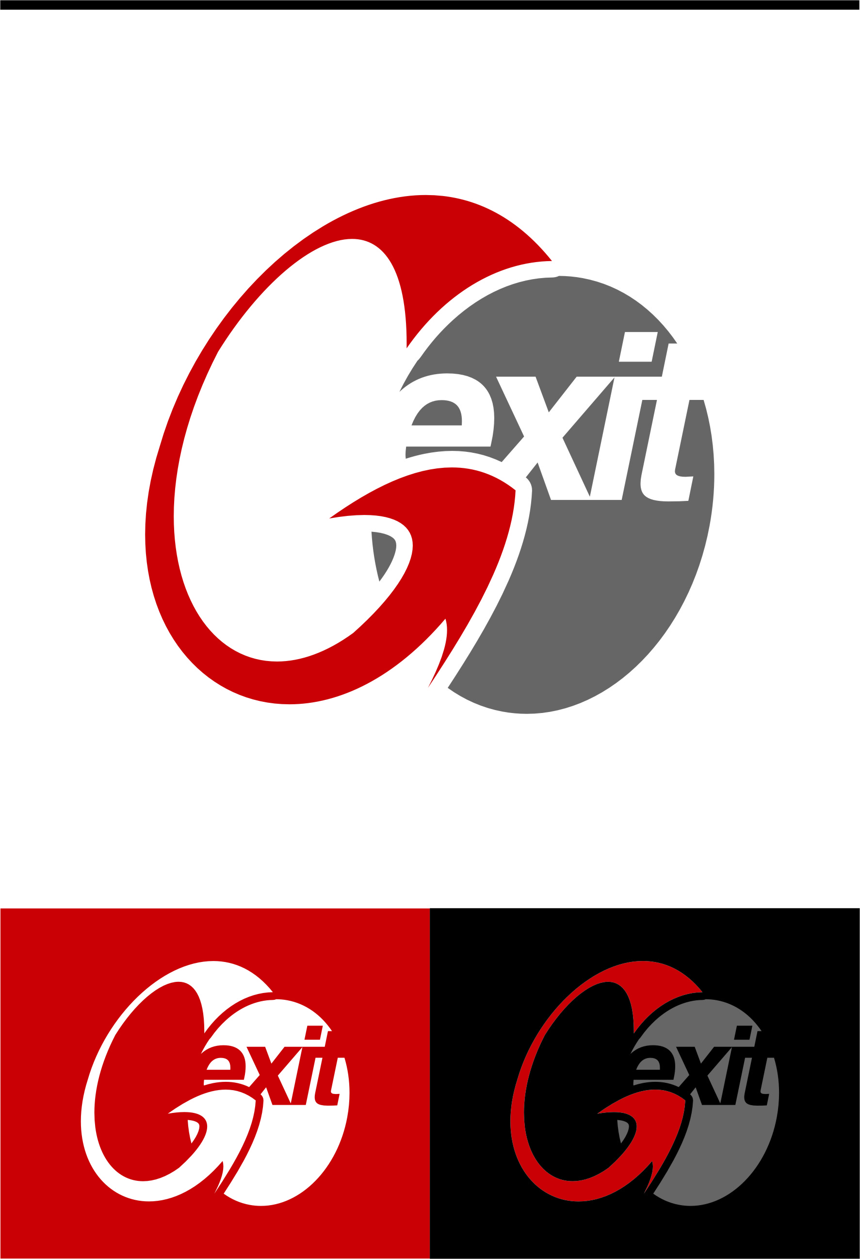 Logo Design by RasYa Muhammad Athaya - Entry No. 186 in the Logo Design Contest GoExit Logo Design.