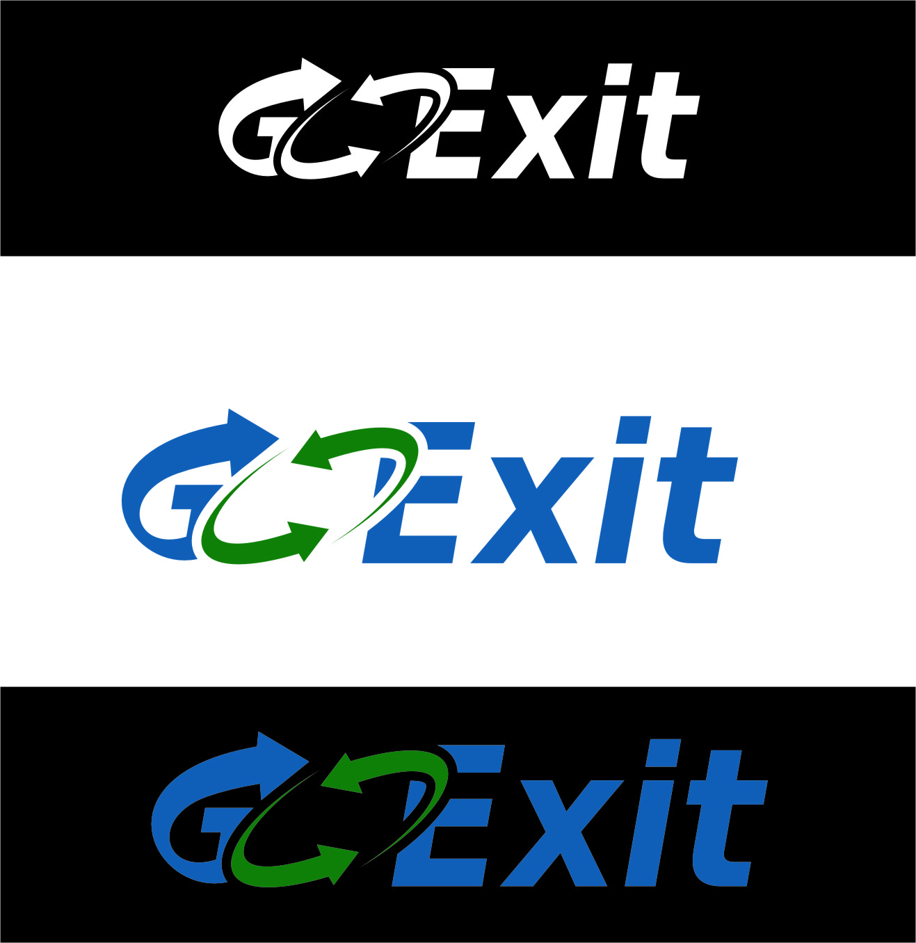 Logo Design by RoSyid Rono-Rene On Java - Entry No. 198 in the Logo Design Contest GoExit Logo Design.