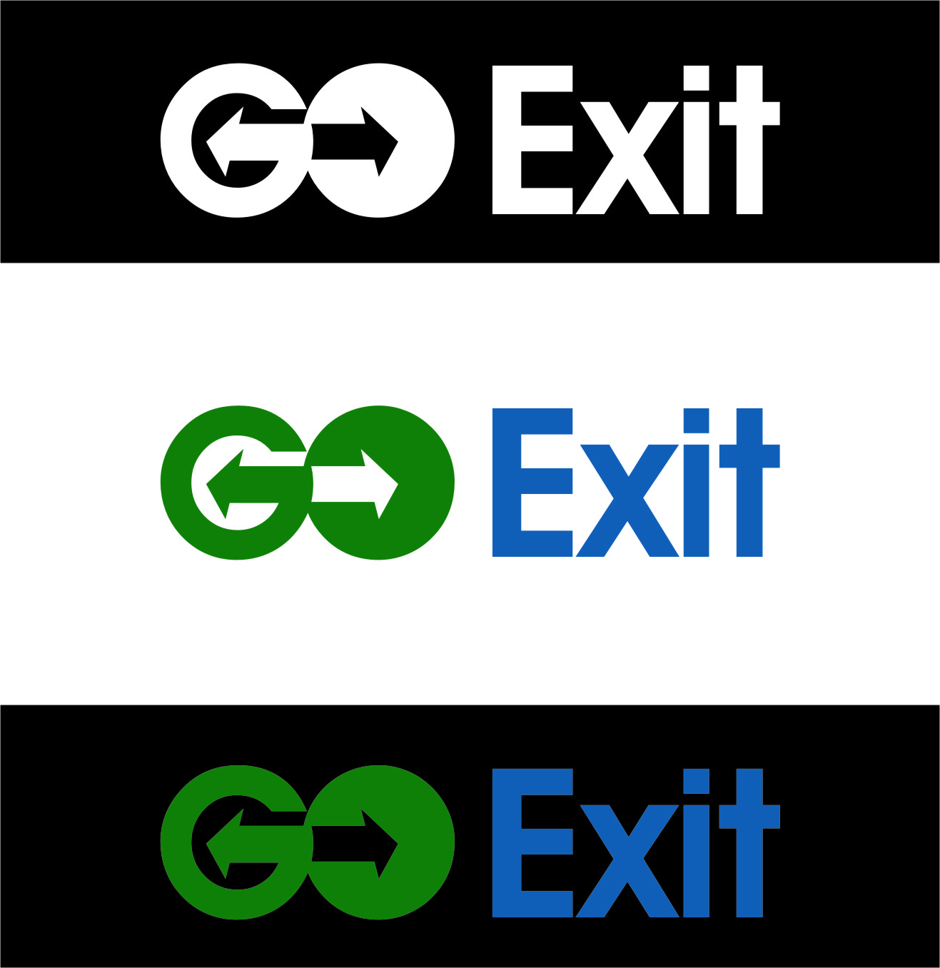 Logo Design by Ngepet_art - Entry No. 199 in the Logo Design Contest GoExit Logo Design.
