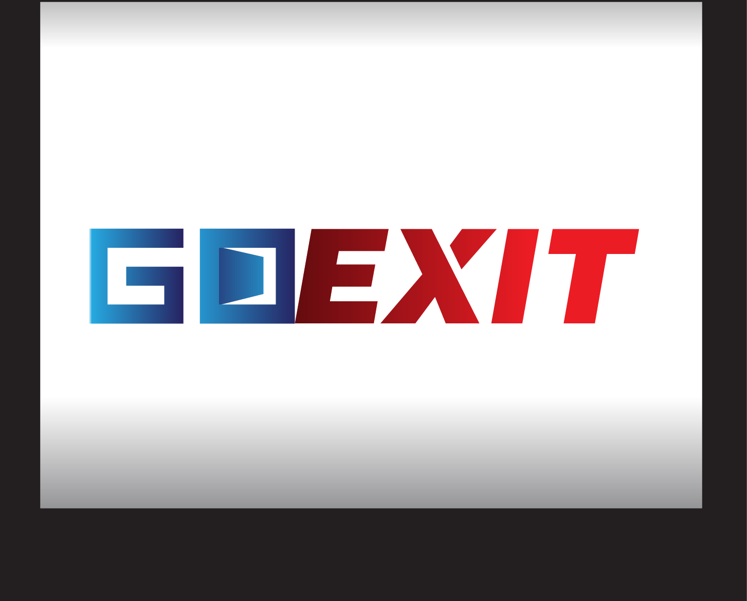 Logo Design by demang - Entry No. 212 in the Logo Design Contest GoExit Logo Design.