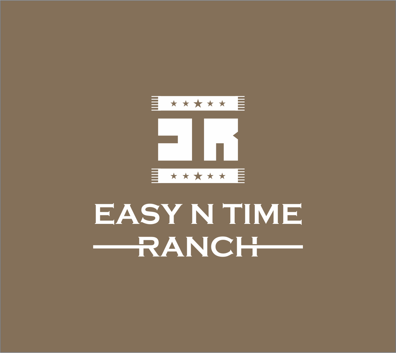 Logo Design by Armada Jamaluddin - Entry No. 15 in the Logo Design Contest Artistic Logo Design for Easy N Time Ranch.
