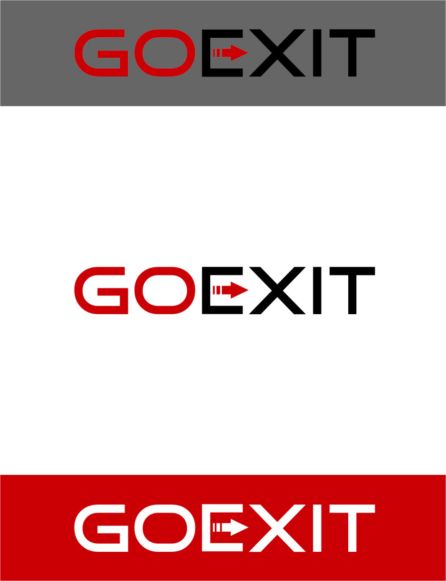 Logo Design by RasYa Muhammad Athaya - Entry No. 224 in the Logo Design Contest GoExit Logo Design.