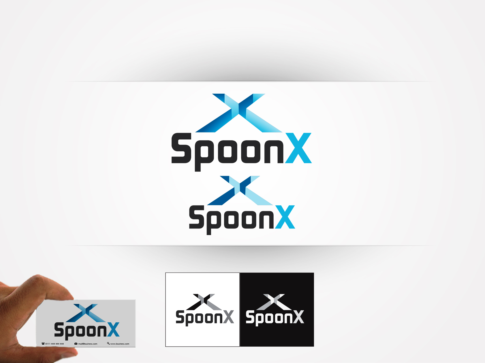 Logo Design by OmegaDesigns - Entry No. 101 in the Logo Design Contest Captivating Logo Design for SpoonX.
