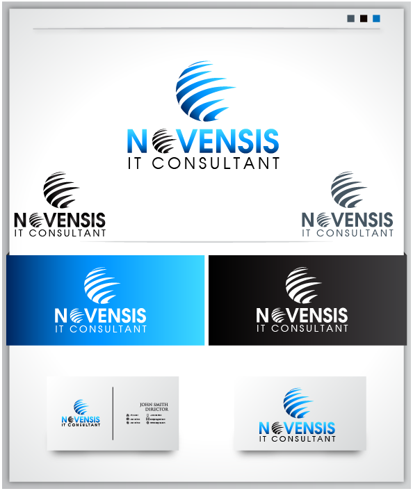 Logo Design by Private User - Entry No. 203 in the Logo Design Contest Novensis Logo Design.