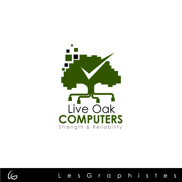Logo Design by Les-Graphistes - Entry No. 65 in the Logo Design Contest Live Oak Computers.