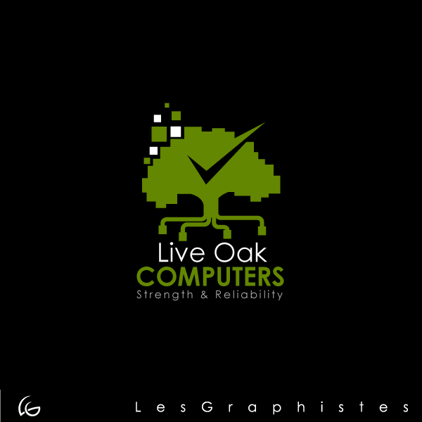 Logo Design by Les-Graphistes - Entry No. 66 in the Logo Design Contest Live Oak Computers.