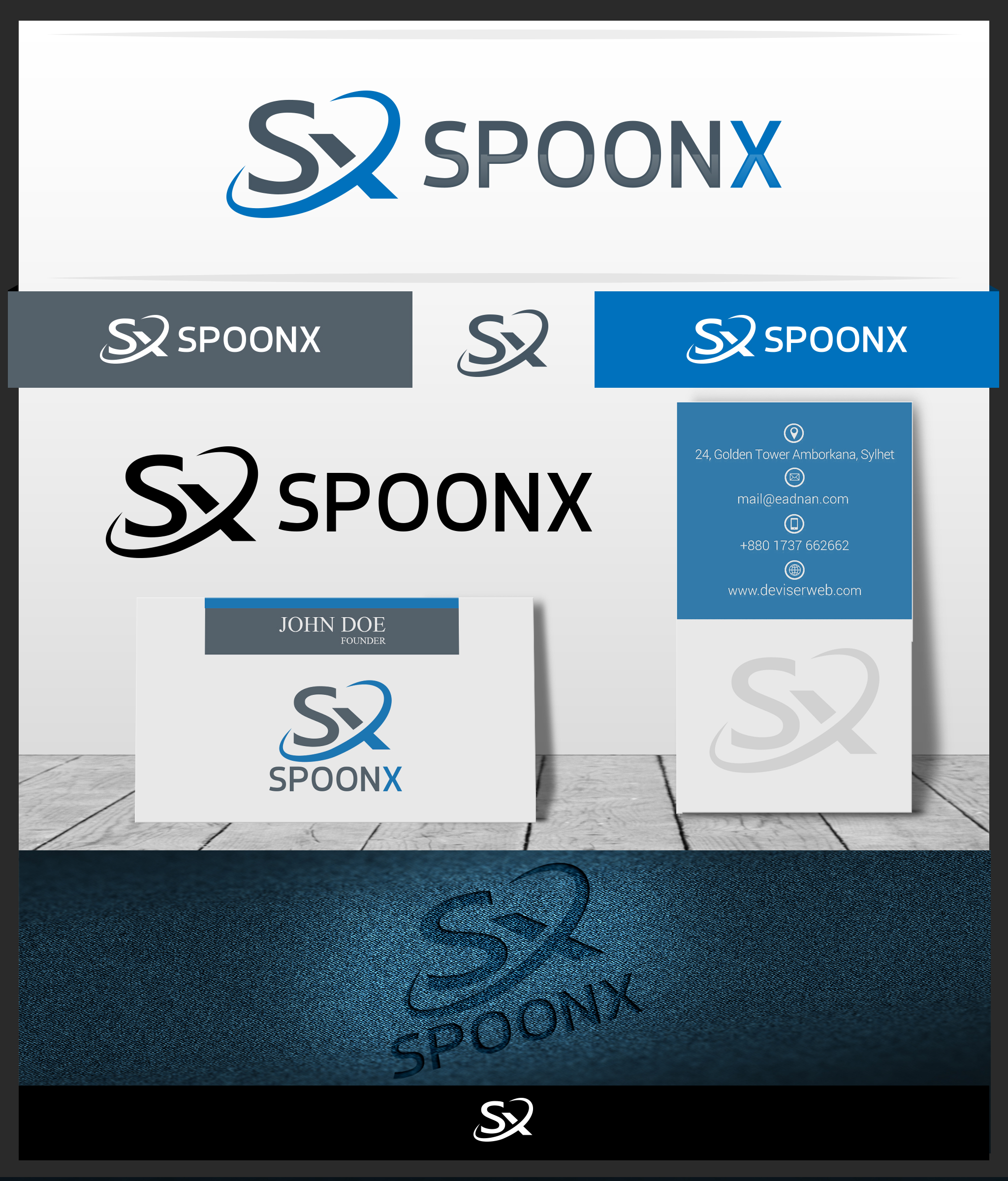 Logo Design by Avinu Designs - Entry No. 157 in the Logo Design Contest Captivating Logo Design for SpoonX.