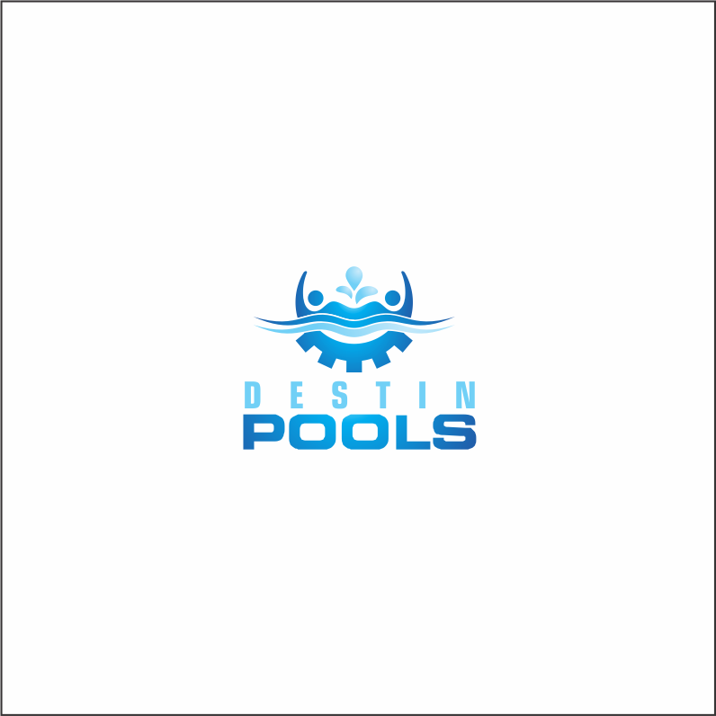 Logo Design by Armada Jamaluddin - Entry No. 76 in the Logo Design Contest Fun Logo Design for Destin Pools.
