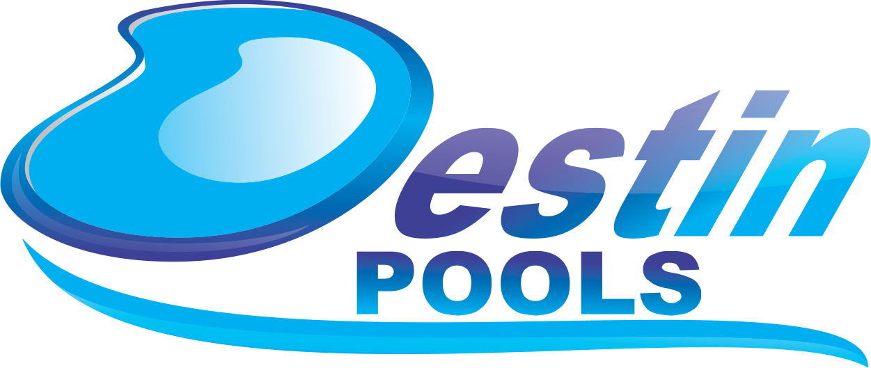 Logo Design by Mokhamad Ngabduloh - Entry No. 84 in the Logo Design Contest Fun Logo Design for Destin Pools.