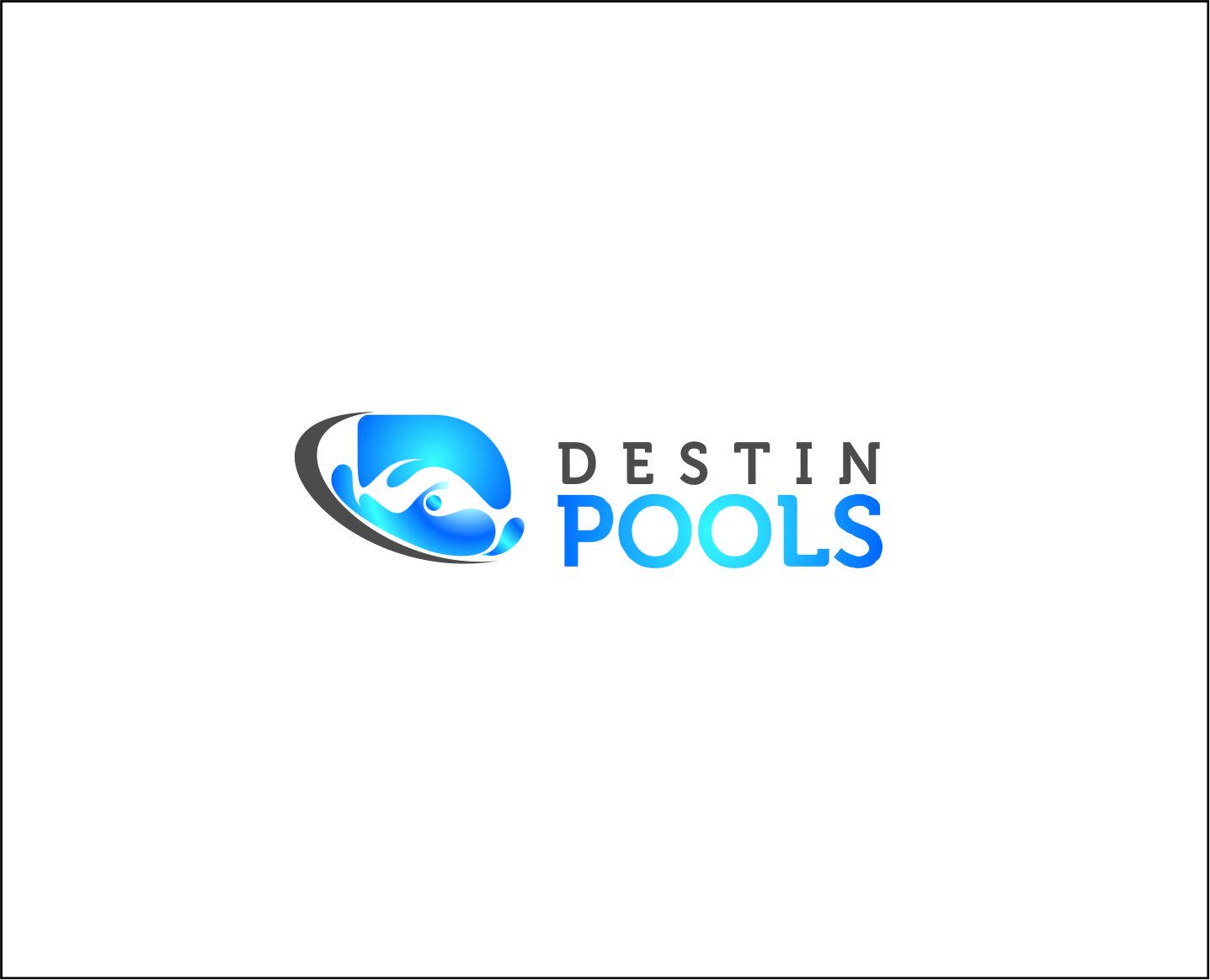 Logo Design by Armada Jamaluddin - Entry No. 90 in the Logo Design Contest Fun Logo Design for Destin Pools.