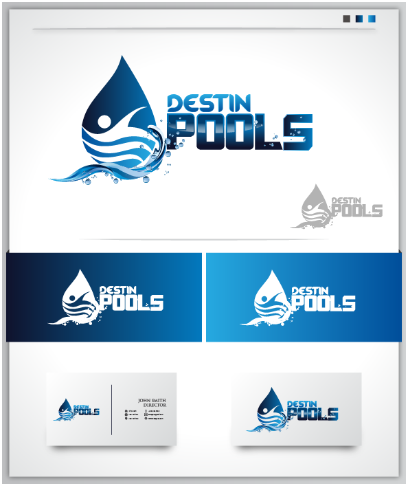Logo Design by Private User - Entry No. 98 in the Logo Design Contest Fun Logo Design for Destin Pools.