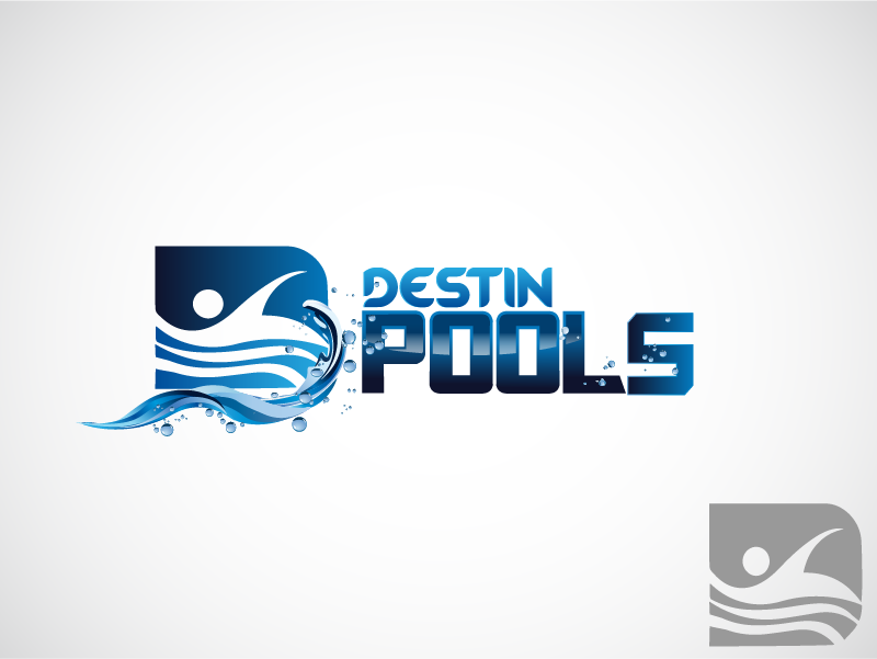 Logo Design by Private User - Entry No. 100 in the Logo Design Contest Fun Logo Design for Destin Pools.