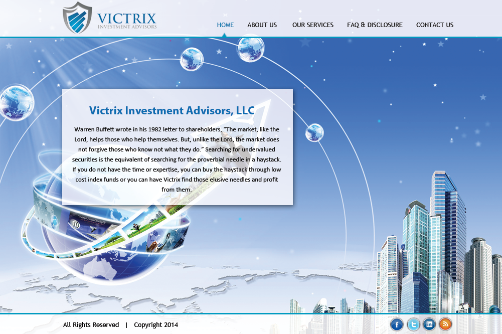 Web Page Design by Vishwa Km - Entry No. 48 in the Web Page Design Contest Captivating Web Page Design for Victrix Investment Advisors.