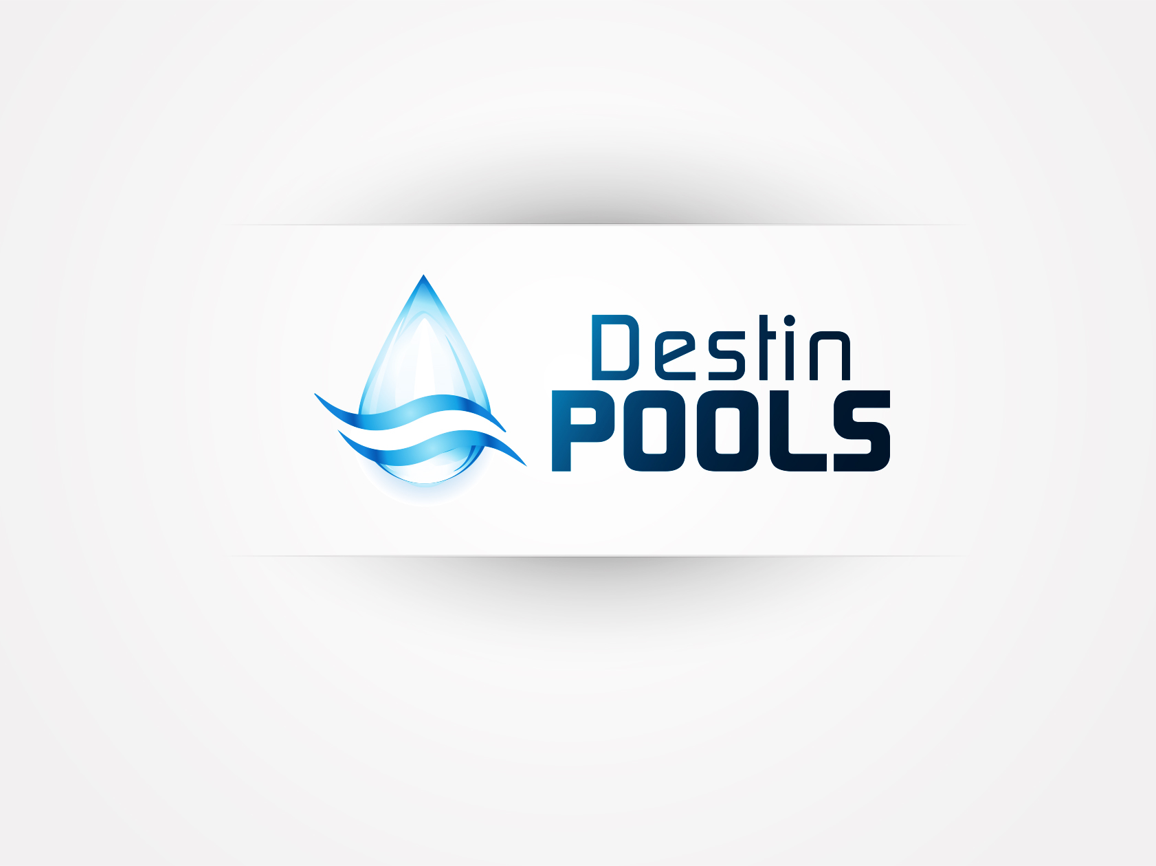 Logo Design by OmegaDesigns - Entry No. 108 in the Logo Design Contest Fun Logo Design for Destin Pools.