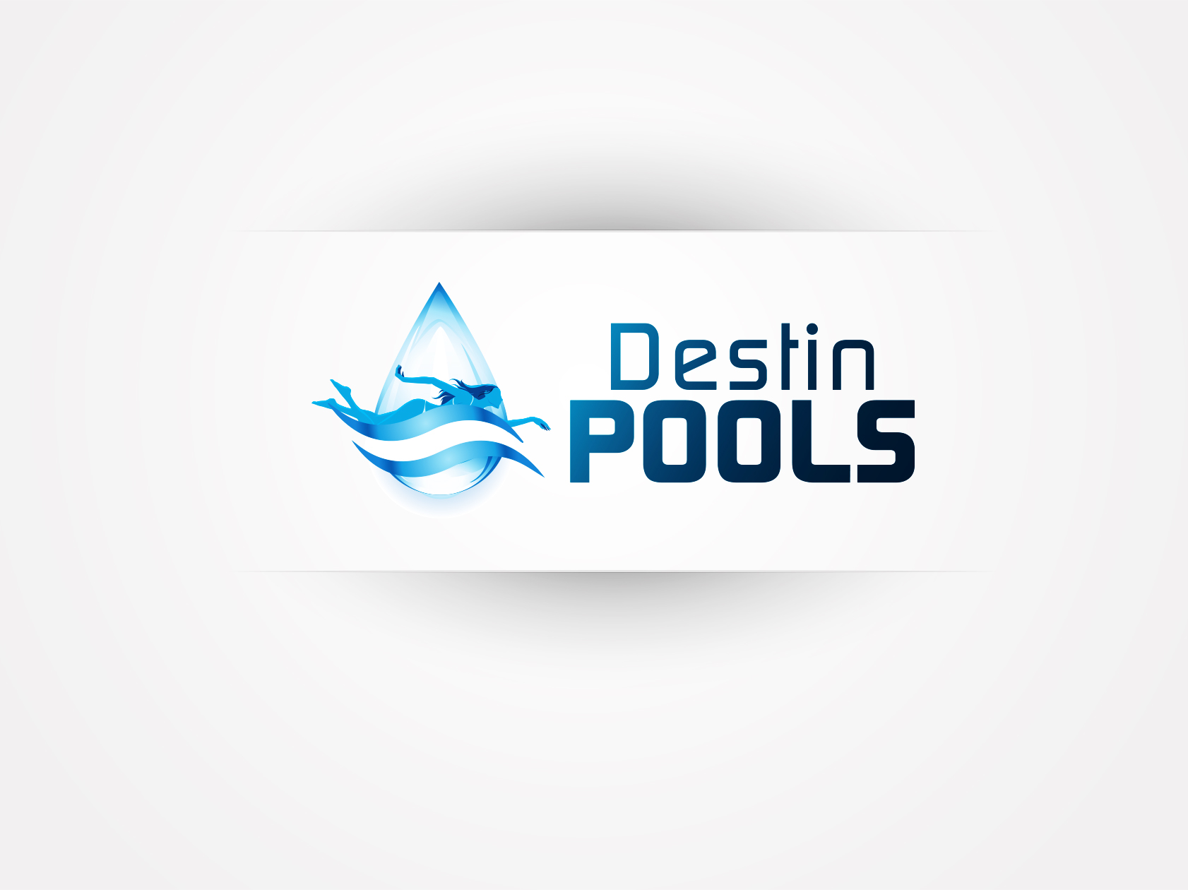 Swimming pool company logos the image for Pool design logo