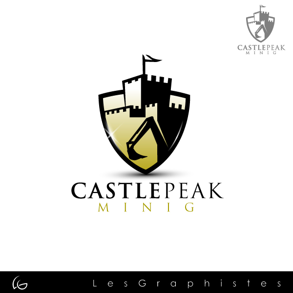 Logo Design by Les-Graphistes - Entry No. 4 in the Logo Design Contest Castle Peak Mining.