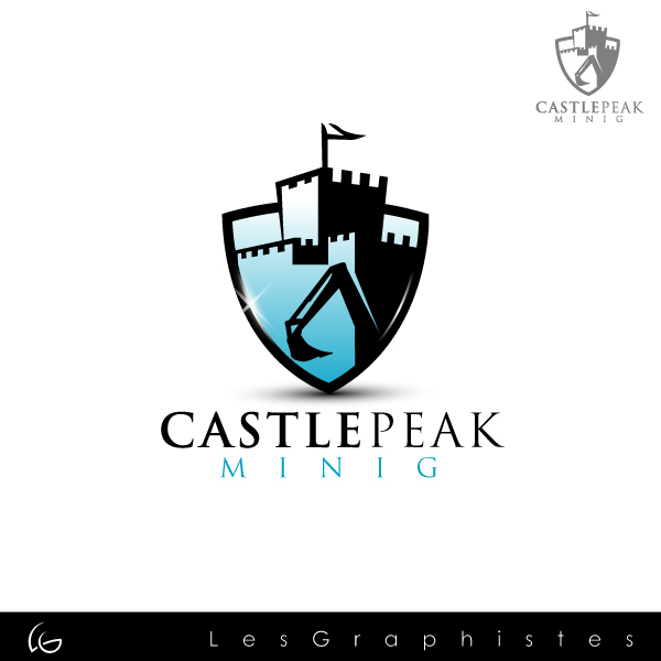 Logo Design by Les-Graphistes - Entry No. 5 in the Logo Design Contest Castle Peak Mining.