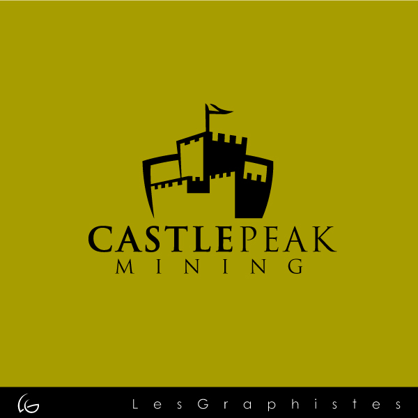 Logo Design by Les-Graphistes - Entry No. 7 in the Logo Design Contest Castle Peak Mining.