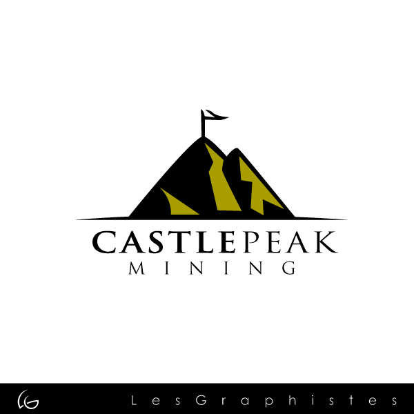 Logo Design by Les-Graphistes - Entry No. 9 in the Logo Design Contest Castle Peak Mining.