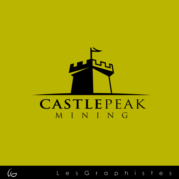 Logo Design by Les-Graphistes - Entry No. 10 in the Logo Design Contest Castle Peak Mining.