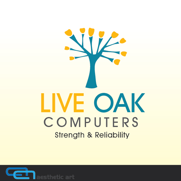 Logo Design by aesthetic-art - Entry No. 79 in the Logo Design Contest Live Oak Computers.
