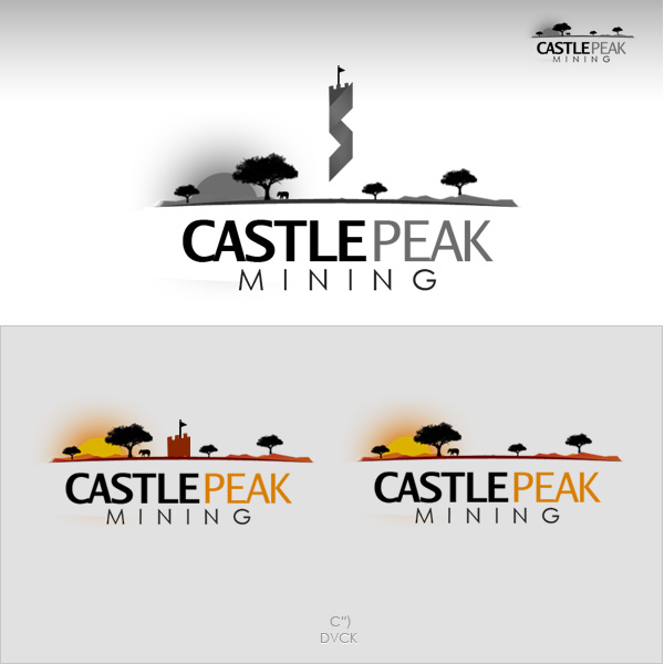 Logo Design by rockpinoy - Entry No. 23 in the Logo Design Contest Castle Peak Mining.