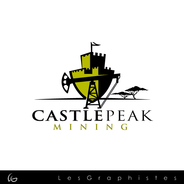 Logo Design by Les-Graphistes - Entry No. 24 in the Logo Design Contest Castle Peak Mining.