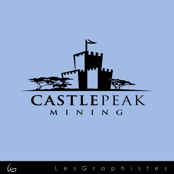 Logo Design by Les-Graphistes - Entry No. 28 in the Logo Design Contest Castle Peak Mining.