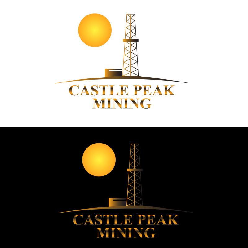 Logo Design by zams - Entry No. 31 in the Logo Design Contest Castle Peak Mining.